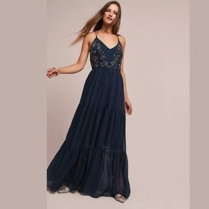 NWT Anthro Ranna Gill Lucinda Beaded Maxi Dress